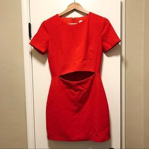 Formal / Homecoming Red Dress with Midriff Slit